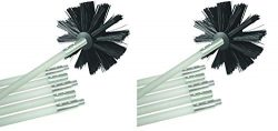 Deflecto Dryer Duct Cleaning Kit, Lint Remover, Extends Up To 12 Feet, Synthetic Brush Head, Use ...