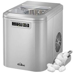 Kealive Ice Maker Machine, Ice Cube Maker, Countertop Ice Maker, 28lbs Ice in 24 hours, 7-13 min ...