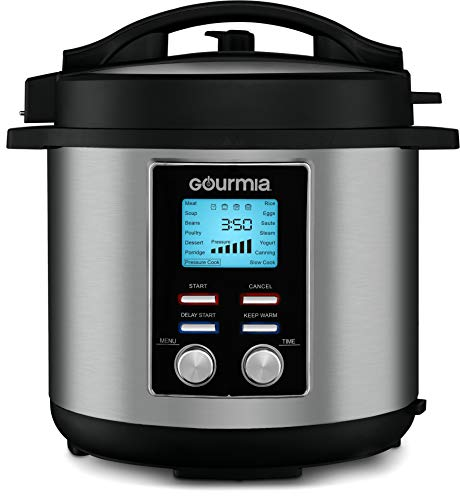 Gourmia GPC855 8 Qt Digital SmartPot Multi-Function Pressure Cooker | 15 Cook Modes | Removable  ...