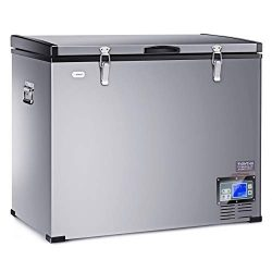 COSTWAY 121 Quart Portable Compressor Refrigerator Freezer Compact Vehicle Car Cooler Mini Fridg ...