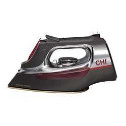 CHI (13106) Steam Iron With Retractable Cord, Titanium Infused Ceramic Soleplate & Over 400  ...
