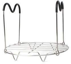 HapWay Steamer Rack Trivet with Heat Resistant Silicone Handles Compatible with Instant Pot 6 &a ...