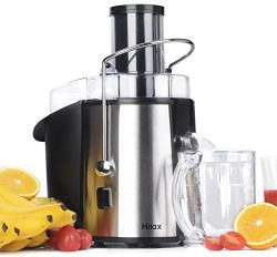 Hilax Juicer Machine Juice Extractor 2-SPEED Spin-power Ease to Clean Stainless Steel Juicer for ...