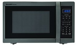 Sharp Microwaves ZSMC1452CH Sharp 1,100W Countertop Microwave Oven, 1.4 Cubic Foot, Black Stainl ...