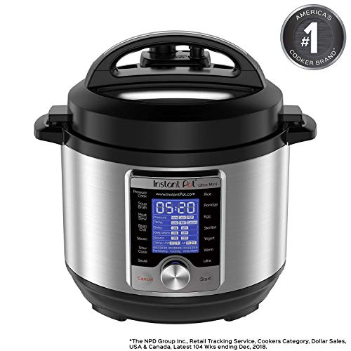 Instant Pot Ultra 3 Qt 10-in-1 Multi- Use Programmable Pressure Cooker, Slow Cooker, Rice Cooker ...