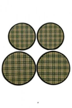 Set 4 Green Plaid Gingham Burner Stove Range Top Stovetop Covers Kitchen