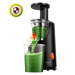 Slow Juicer, IKICH Juice Extractor with Maximum Nutritional Value, Fresher Nutrient and Vitamins ...