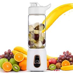 DmofwHi USB Portable Blender Cup, 14oz 3D-6-Blades Battery Operated Blender Bottle for Smoothies ...