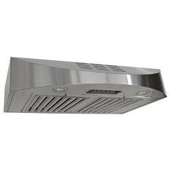 KOBE CHX3830SQBD-3 Brillia 30-inch Ductless Under Cabinet Range Hood, 3-Speed, 400 CFM, LED Ligh ...