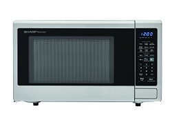 Sharp Microwaves ZSMC1842CS Sharp 1,100W Countertop Microwave Oven, 1.8 Cubic Foot, Stainless Steel