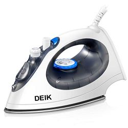 Steam Iron Deik with Non-Stick Smooth Soleplate, Irons 1400 Watt Large Anti-Drip Non-Stick Stain ...