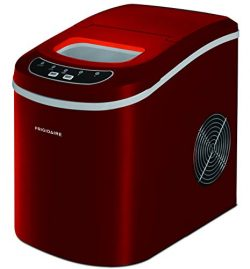 Frigidaire EFIC102-RED Compact Making Machine, Large Portable Ice Maker, Red, Medium