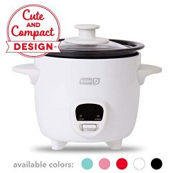 Dash DRCM200GBWH04 Mini Rice Cooker Steamer with Removable Nonstick Pot, Keep Warm Function &amp ...
