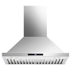 DKB 30″ Inch Range Hood Wall Mounted Brushed Stainless Steel Kitchen Vent With 600 CFM
