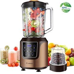 Blender,AAOBOSI Smoothie blender, Professional Blender with 52 Oz Glass Jar for Shakes and Smoo ...