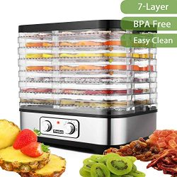 Food Dehydrator Machine, BPA Free Drying System With Nesting Tray – For Beef Jerky Preserv ...