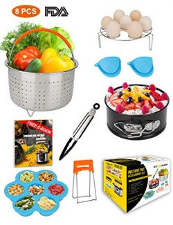 Mini 3 Quart Accessories for Instant Pot 3 QT or 4 Qt Instapot, including Steamer Basket, Egg Tr ...