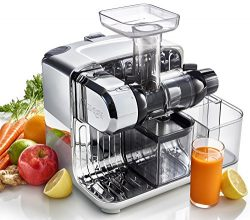 Omega Juicers CUBE300S Cube Nutrition Center Juicer Creates Fruit Vegetable and Wheatgrass Juice ...