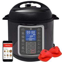 Mealthy MultiPot 9-in-1 Programmable Pressure Cooker 8 Quart with Stainless Steel Pot, Steamer B ...