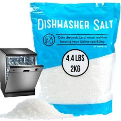 4.4 LB Dishwasher Salt/Water Softener Salt – Compatible with Bosch, Miele, Whirlpool, Ther ...