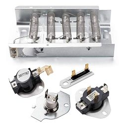 Whirlpool kenmore dryer heating element 279838 & 3392519 3977393 Thermal Fuse & 3387134  ...