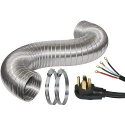 Certified Appliance Accessories Dryer Duct Kit with 4-Wire 30-Amp 6ft Cord