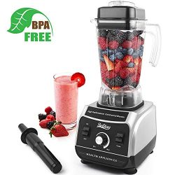 Betitay Professional Countertop Blender, 1500W Commercial Smoothie Maker with Recipe Booklet, St ...