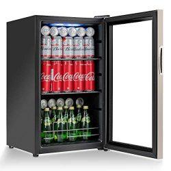 Costway Beverage Refrigerator Portable Mini Beer Wine Soda Drink Beverage Cooler Black (76 Can)