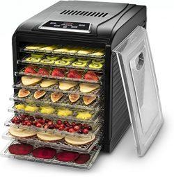 Gourmia GFD1950 Premium Countertop Food Dehydrator 9 Drying Shelves Digital Thermostat Preset Te ...
