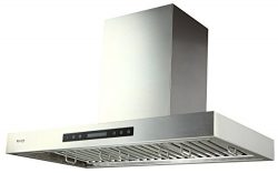 EKON Wall Mounted Kitchen Range Hood/Touch Panel Control With Remote And LCD Display / 2 Pcs 3W  ...