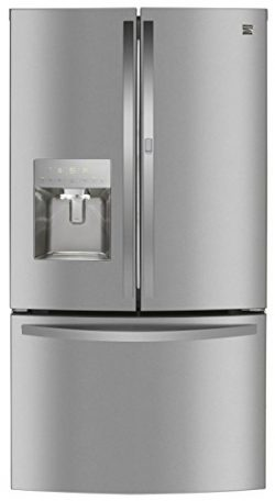 Kenmore 73115 French Door Smart Refrigerator, 27.7 cu. ft. in Stainless-Works with Alexa and ena ...