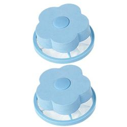 OVERMAL_Accessories Mesh Filtering Hair Removal Floating 2Pcs Filter Bag Washer Style Laundry Cl ...