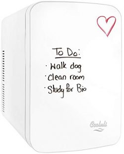 Cooluli Vibe-15-liter Cooler/Warmer Mini Fridge with Dry-Erase Board for Dorms, Offices, Homes & ...