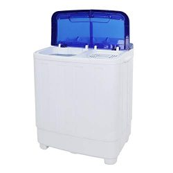 ZOKOP Washing Machine,XPB50-RS5 16Lbs Semi-Automatic Twin Tube Washing Machine Compact Twin Tub  ...