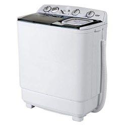 KUPPET Compact Twin Tub Portable Mini Washing Machine 21lbs Capacity, Washer(13lbs)&Spiner(8 ...