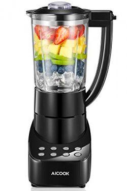 Blender 5 Speed Smoothie Blender Make Smoothies, Ice and Frozen Fruit Drinks, BPA-Free Glass Jar ...