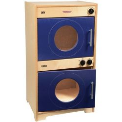 Constructive Playthings Wooden Monaco Play Washer & Dryer