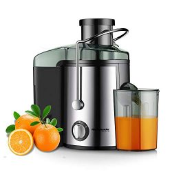 "Juicer Juice Extractor, Homeleader Stainless Steel Centrifugal Juicer with 3"" Wide Mouth,  ..."