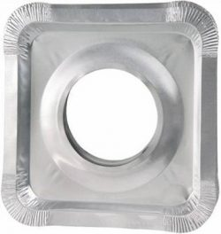 Aluminum Foil Square Gas Stove Burner Covers – Pack of 150 – Disposable Bib Liners for Kitchen G ...