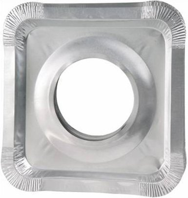 Aluminum Foil Square Gas Stove Burner Covers Pack Of 150
