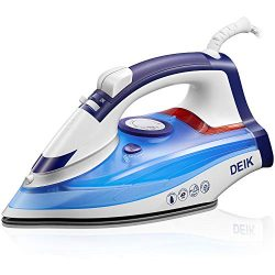 Deik Steam Iron, 1200W Iron with Ceramic Soleplate, Self-Cleaning Function, Variable Temperature ...