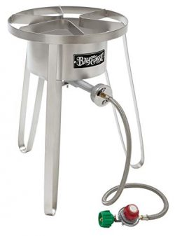 Bayou Classic SS50 Stainless Steel High Pressure Cooker, Tall