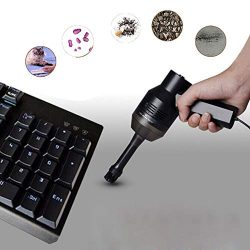 Lywey Rechargeable Mini Vacuum Cordless Vacuum Desk Vacuum Cleaner for Cleaning Computer Keyboar ...