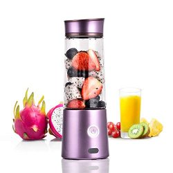 Kacsoo Portable Smoothie Blender, M650 USB Blender for Shakes and Smoothies, Fruit Mixer Juicer  ...