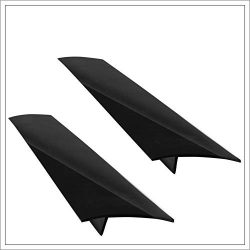 Culin-Art Kitchen Silicone Stove Counter Gap Cover | Set of 2 | Black Color | Great for Kitchen  ...