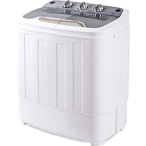 Merax Portable Washing Machine Mini Compact Twin Tub Washer Machine with Wash and Spin Cycle, FC ...