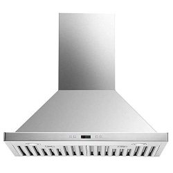 DKB 30″ Inch Wall Mounted Range Hood Brushed Stainless Steel With LED Lights 600 CFM