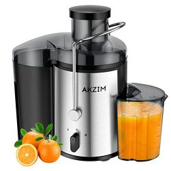 Fruit Juicer AKZIM Juice Extractor with Non-Slip Feet,Dual Speed Centrifugal Juicer Machine,Anti ...