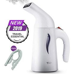 JSD Steamer for Clothes, 7 in 1 Travel Garment Steamers, 150ml Powerful Handheld Fabric Steamer  ...