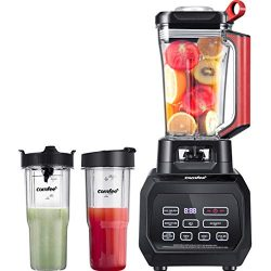 Comfee 1500W High Speed Professional Blender with 168oz. Tritan Blending Pitcher and 232oz. Trav ...